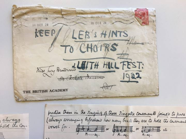 Old letters and music score