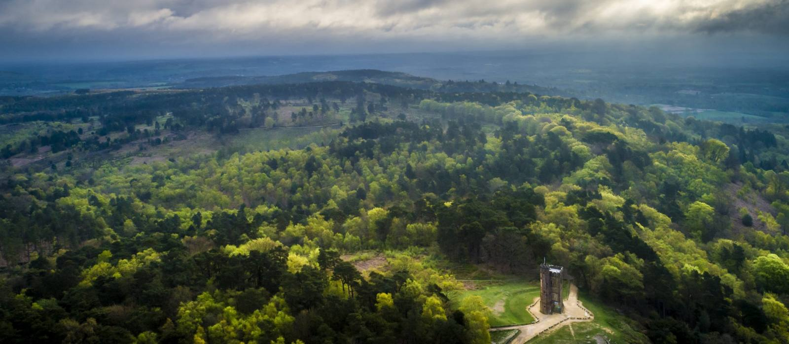 Leith Hill aerial view