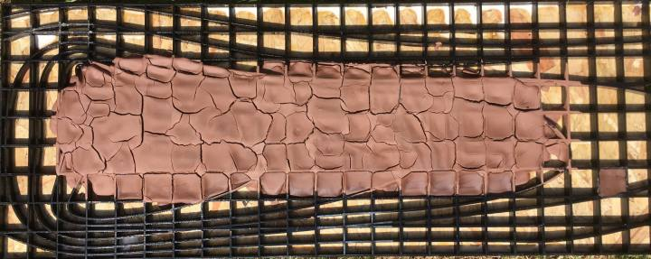 Raw clay grid