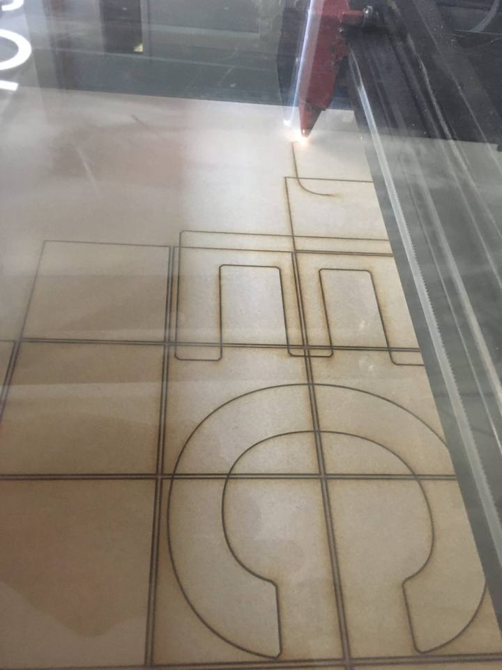 Laser cutting grid
