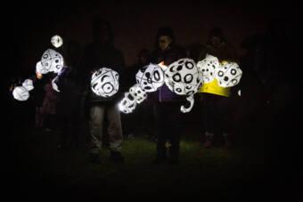 One Moon lanterns - the Grange
