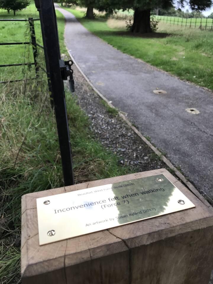 Beaufort Trail plaque - Susan Ryland