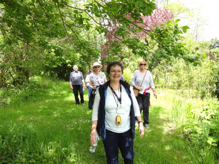 Susan Ryland leading a creative health walk