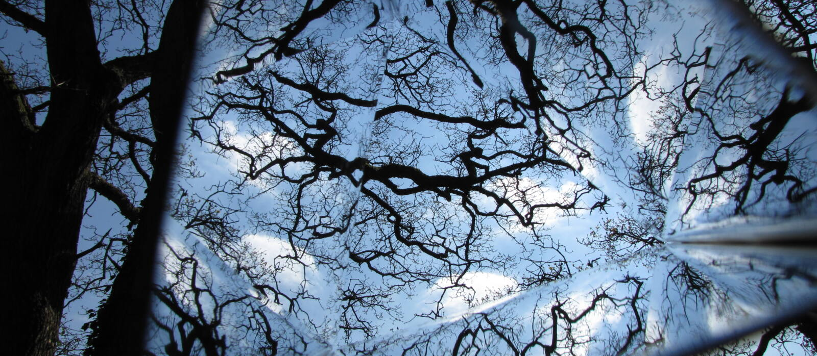 View of sky through kaleidoscope