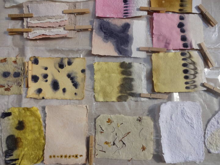 Paper making workshop samples