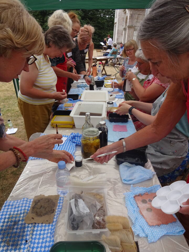 Papermaking workshop at Leith Hill Place with Jane Ponsford